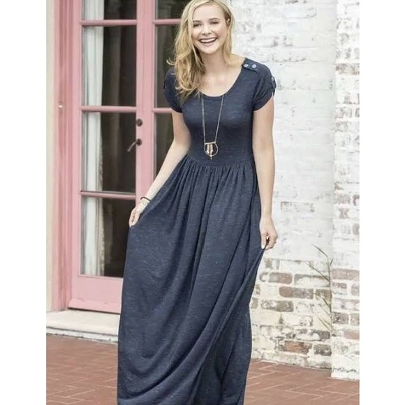 Matilda Jane Dresses & Skirts - Matilda Jane Deep Water Maxi Dress S EUC